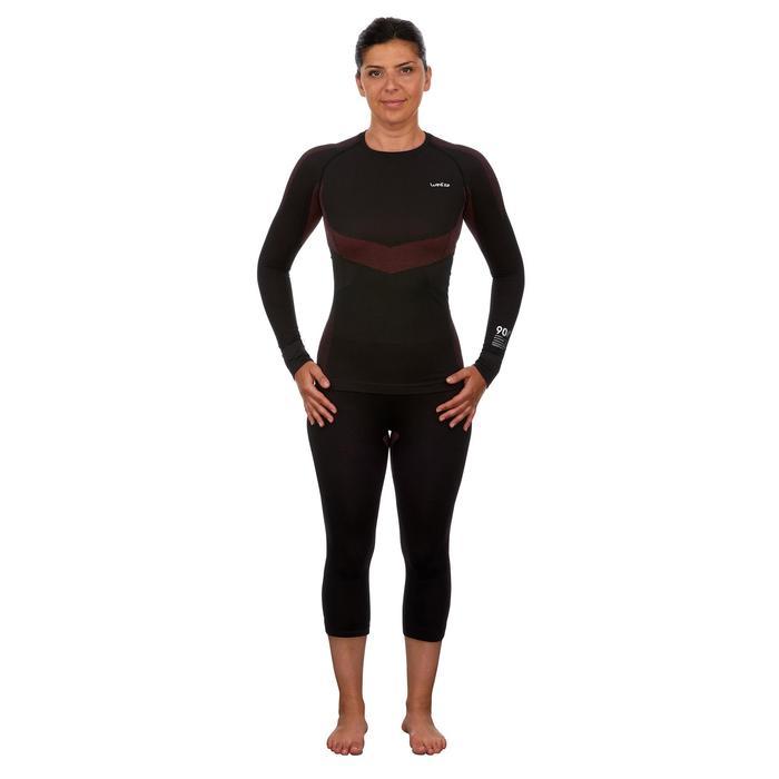 Sous-vêtement haut de ski femme 900 Noir Rose