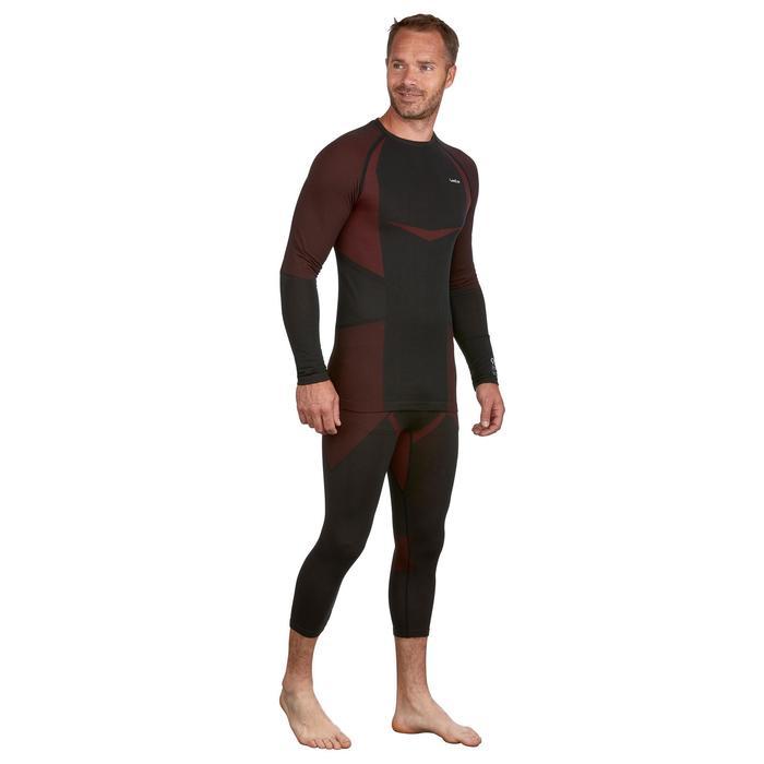 Pantalón de esquí hombre 900 negro rojo