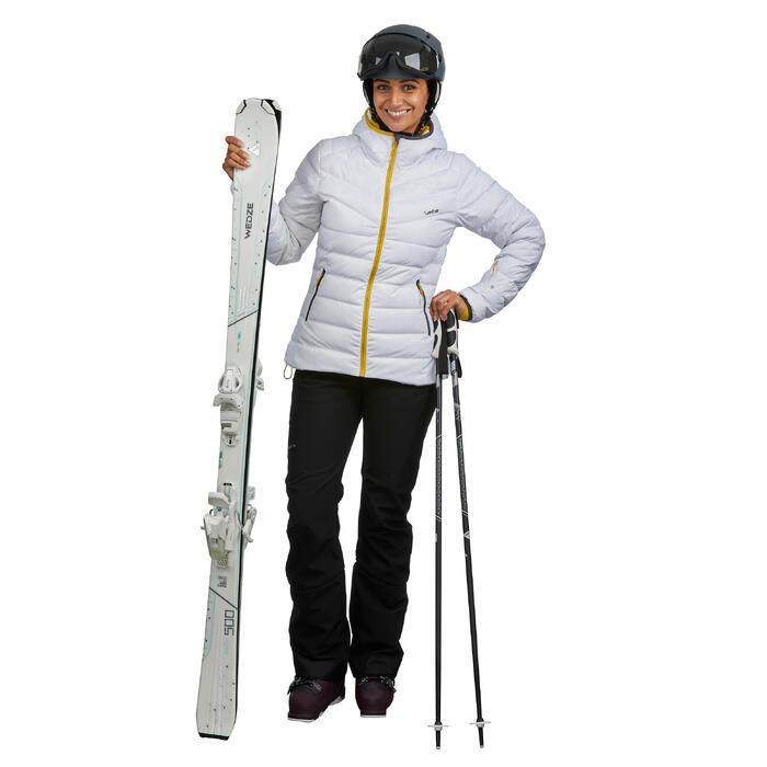 Dons ski-jas voor dames JKT 500 Warm wit