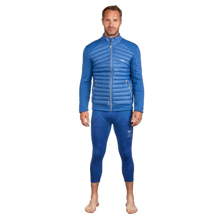 Herenmidlayer voor skiën 900 blauw