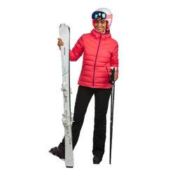 Skibroek dames zwart voor pisteskiën 500
