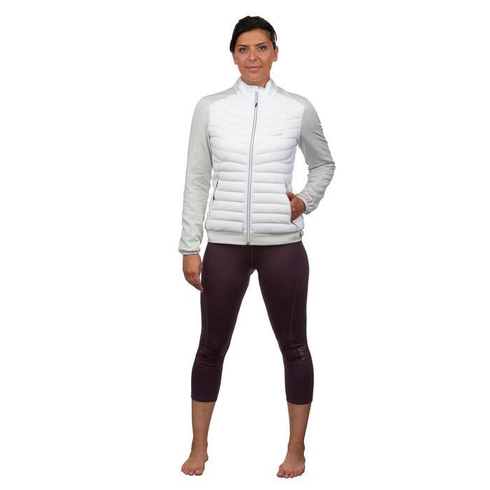 女款雙板滑雪中層衣900 - 白色