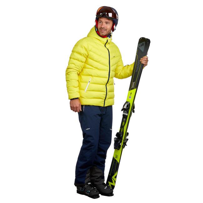 Ski-P 500 MEN'S WARM SKI DOWN JACKET - YELLOW