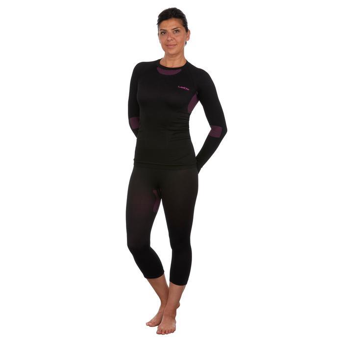 Thermobroek voor skiën dames 580 I-Soft zwart/roze