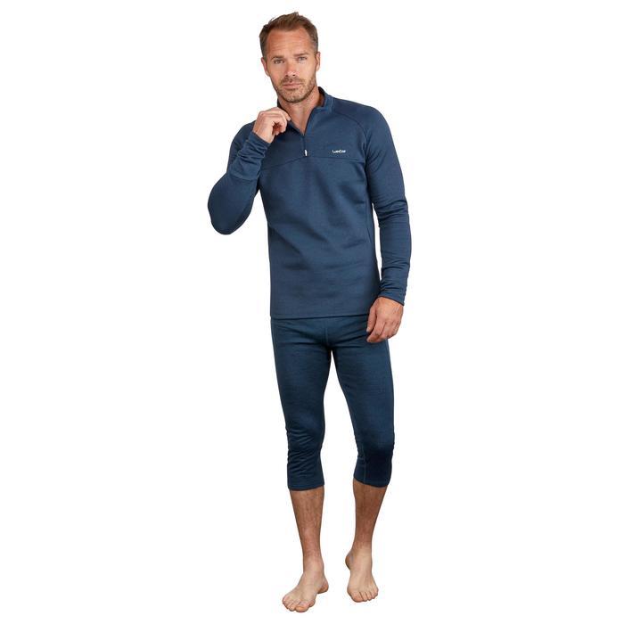 Camiseta de esquí hombre MD 500 azul