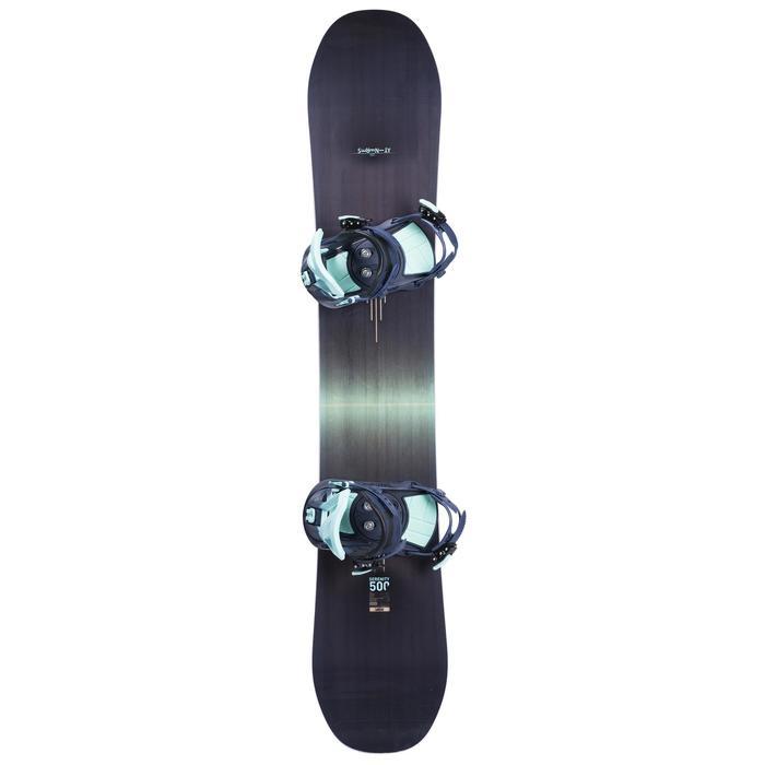 Pack piste & freeride snowboard voor dames Serenity 500 donkerblauw
