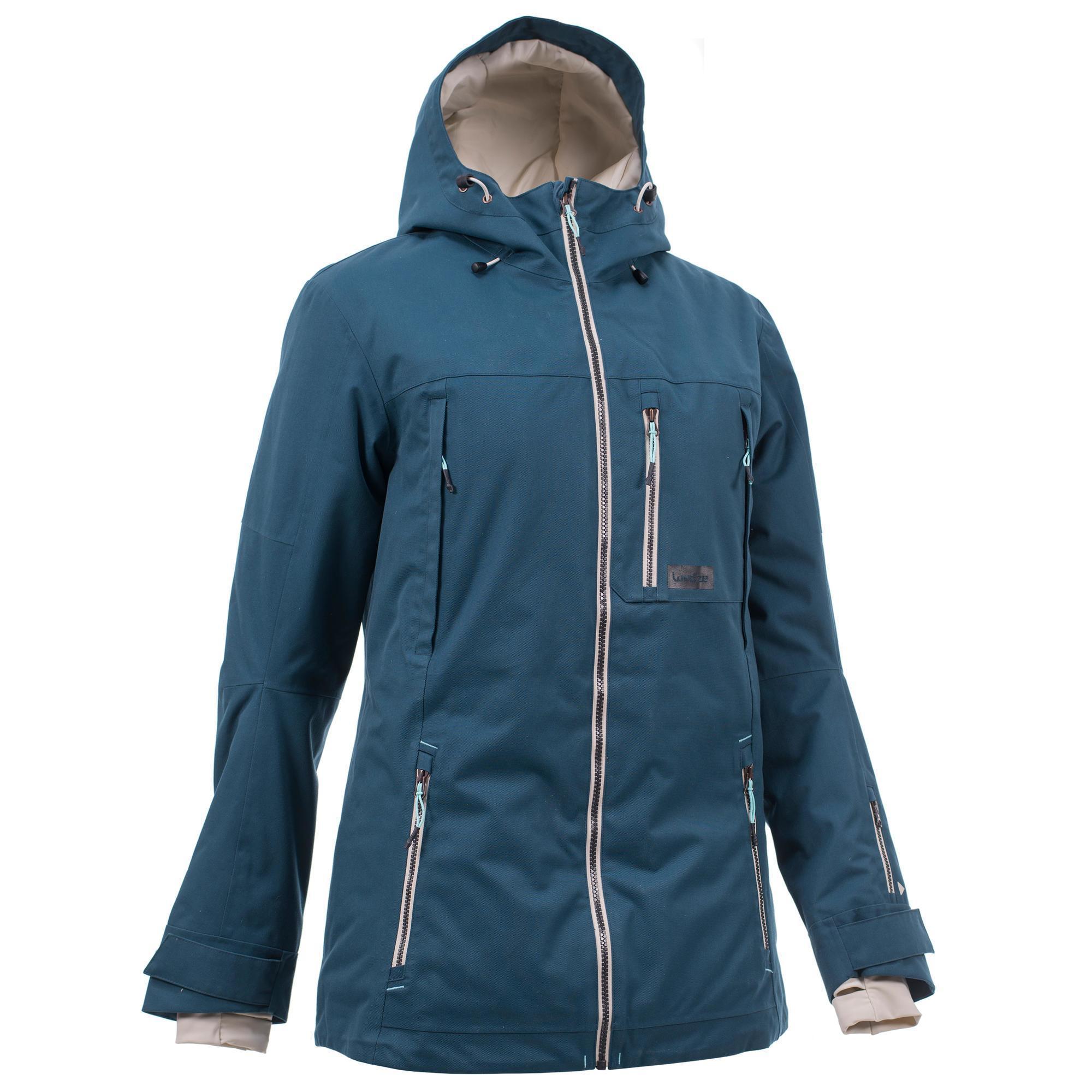 Wed'ze Snowboard- en ski-jas voor dames SNB JKT 500 donker petrol