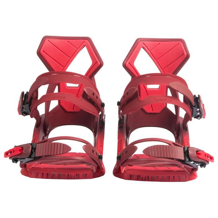 Fixations de snowboard homme et femme All Road 100 rouges