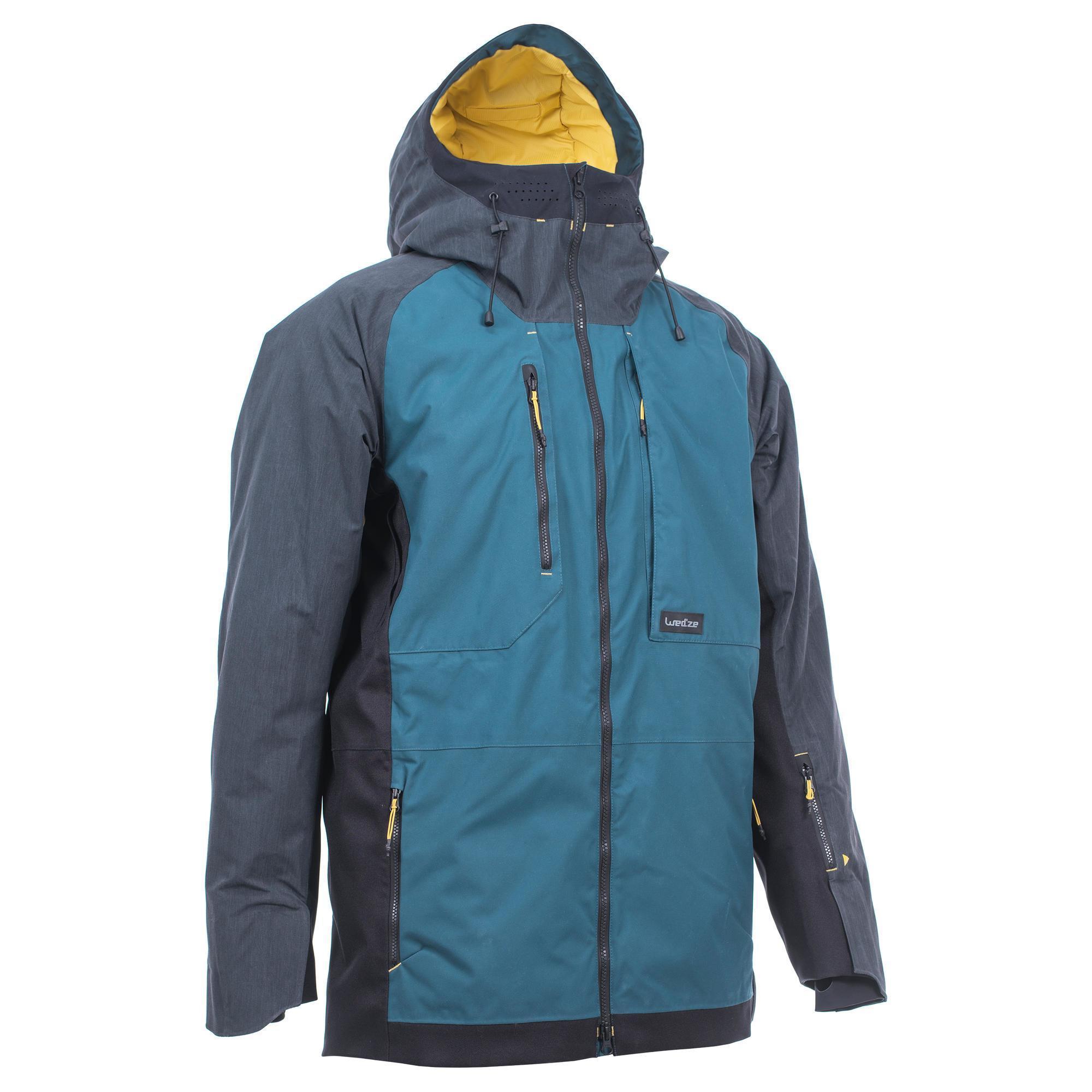 Herren Snowboardjacke 900 Herren petrolblau | 03608449862172