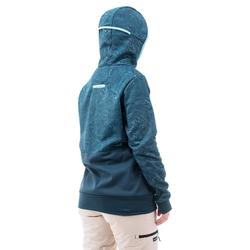 Pull Hoodie snowboard et de ski SNB HDY femme graph turquoise