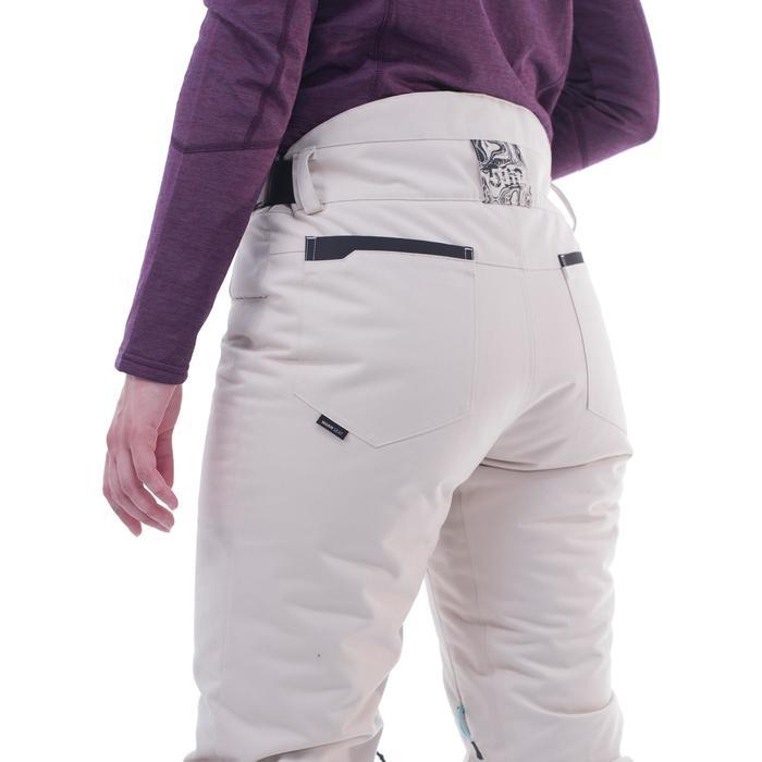 Pantalon de snowboard et de ski femme SNB PA 500 lin