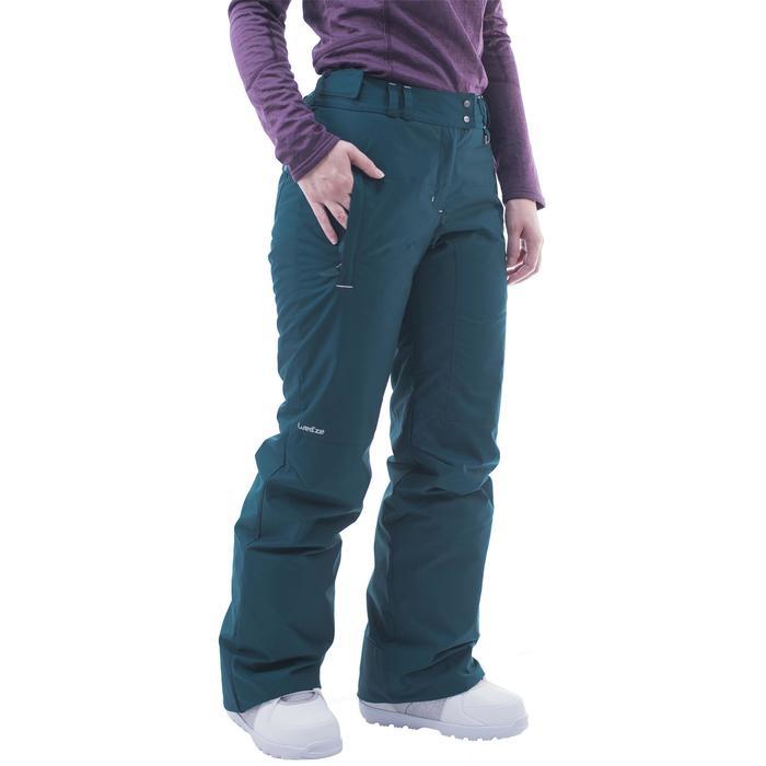 Pantalón snowboard y esquí mujer SNB PA 100 azul petróleo oscuro