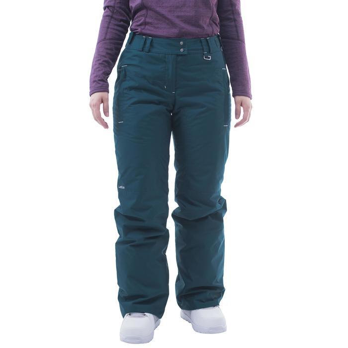 Pantalon de snowboard et de ski femme SNB PA 100 pétrole sombre