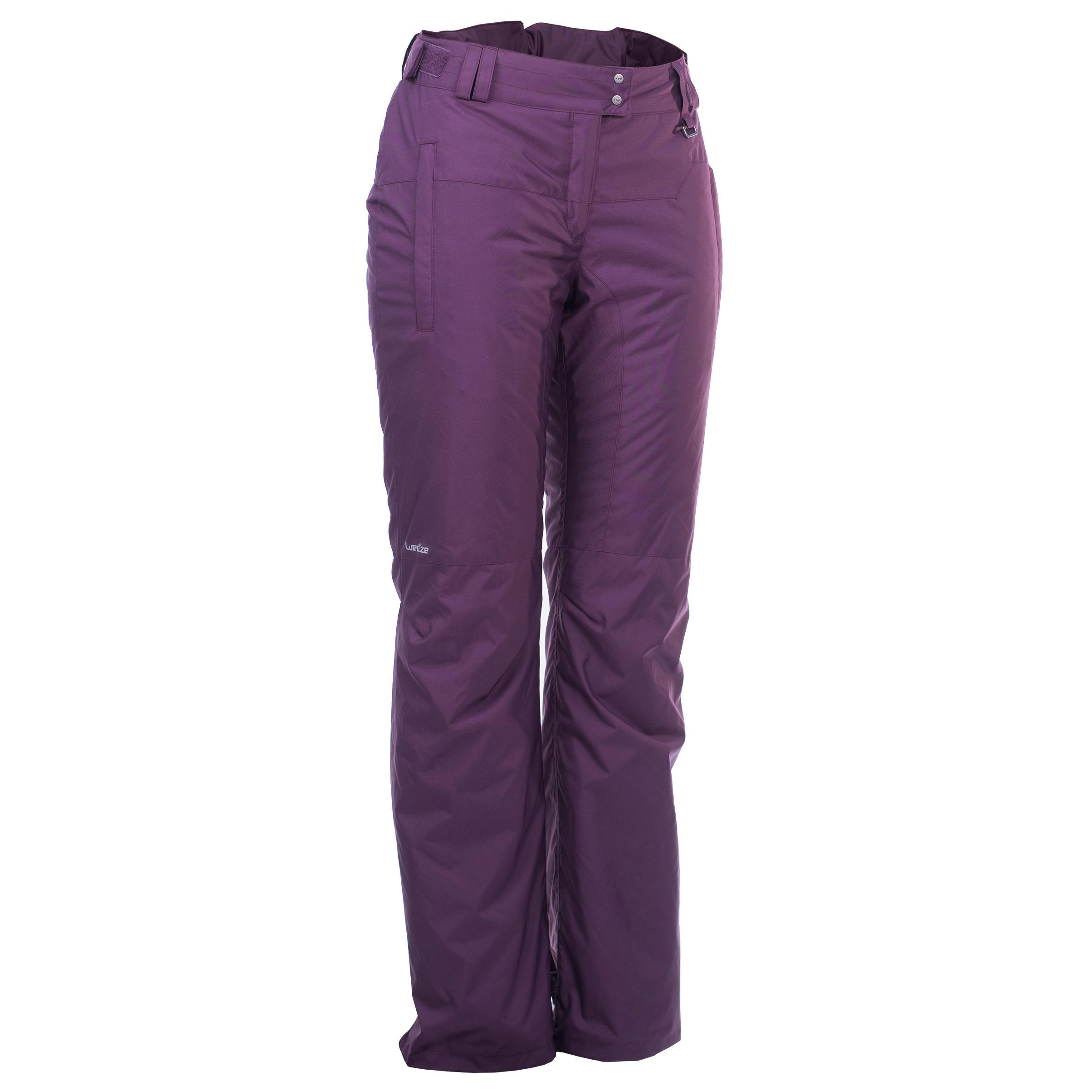 Pantalon de planche à neige et de ski femme SNB PA 100 violet