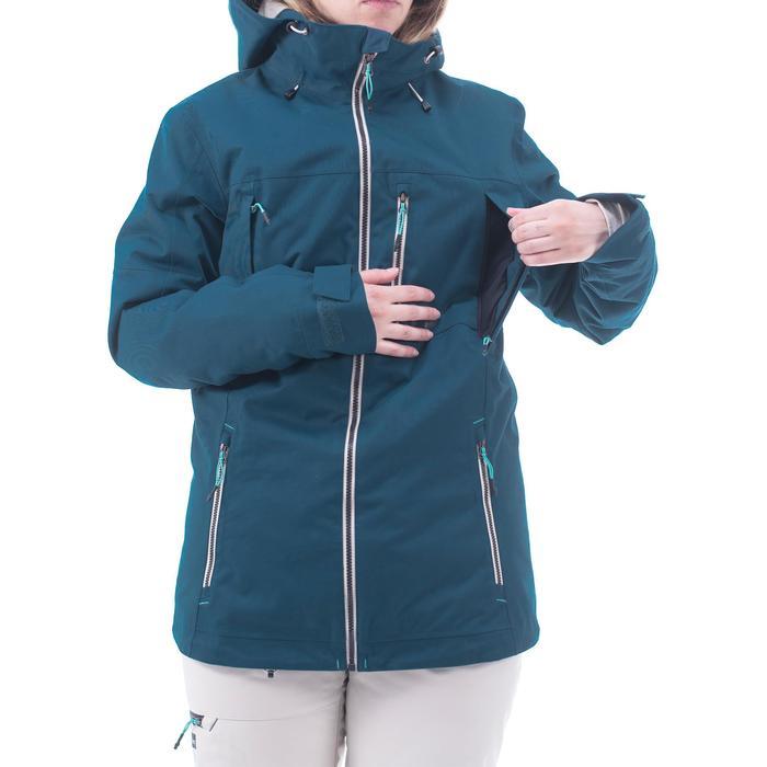 Snowboard- en ski-jas voor dames SNB JKT 500 donkerpetroleum