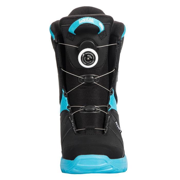 Botas de snowboard, niños, Indy 500, Cable Lock negro y azul