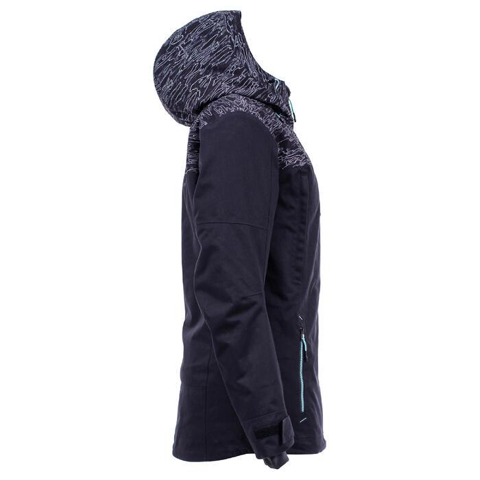 Veste de snowboard (et de ski) femme SNB JKT 500 camo noir