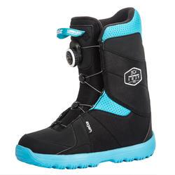 兒童滑雪鞋Indy 500,Cable Lock - 黑色與藍色