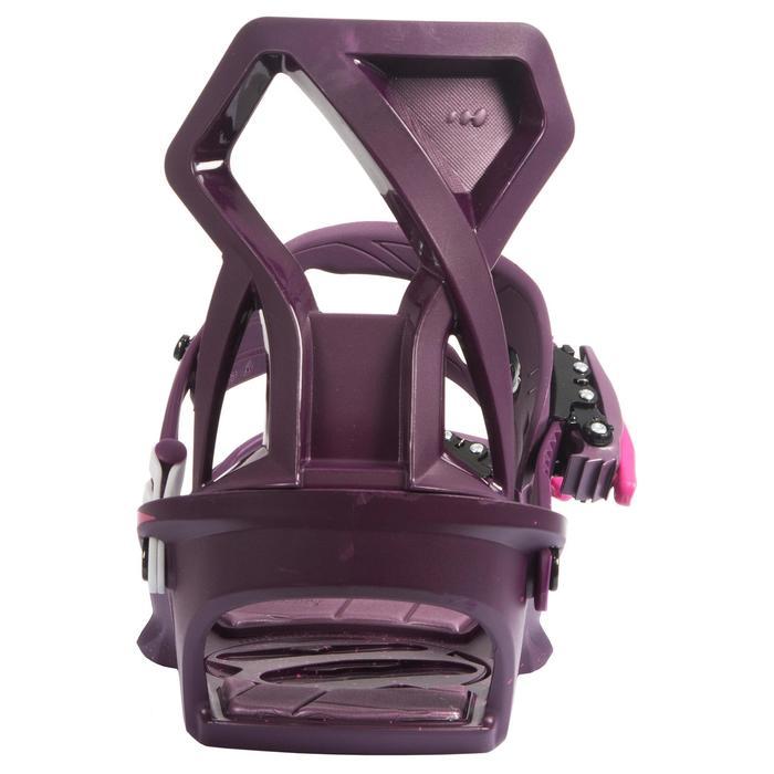 Fixations de snowboard femme Serenity 100 violettes