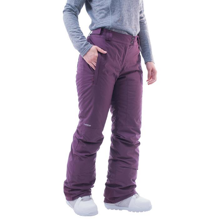 Pantalón snowboard y esquí mujer SNB PA 100 violeta