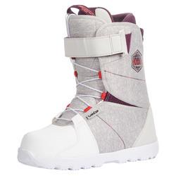 女款單板滑雪板、全山地/極限運動滑雪靴SNB 100 Fast Lock - 灰色
