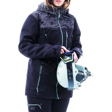 2e1f80226d6 Veste de snowboard et de ski femme SNB JKT 500 camo noir. Previous. Next