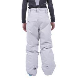 Pantalon de snowboard et ski SNB PA 500 garçon gris