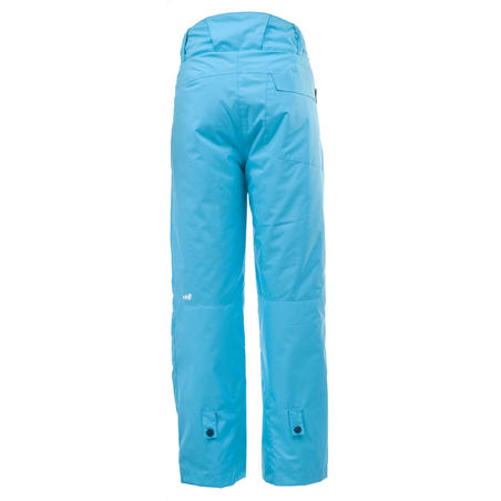 Girl's Snowboard and Ski Trousers SNB PA 500 - Turquoise