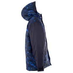 Manteau de planche à neige et ski SNB JKT 500 garçon bleu foncé