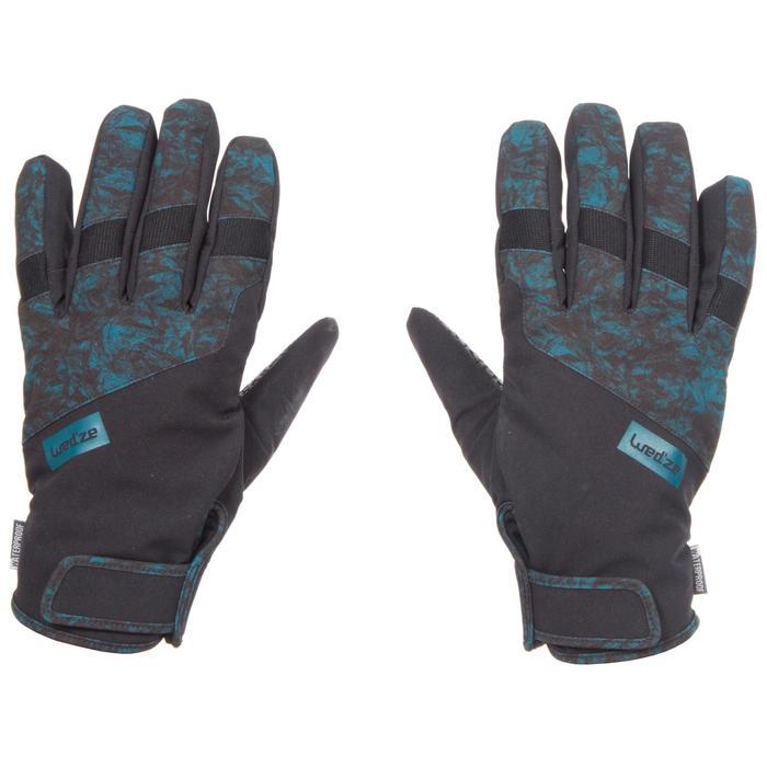 Handschoenen voor snowboarden en skiën SNB GL SPRING petroleumblauw