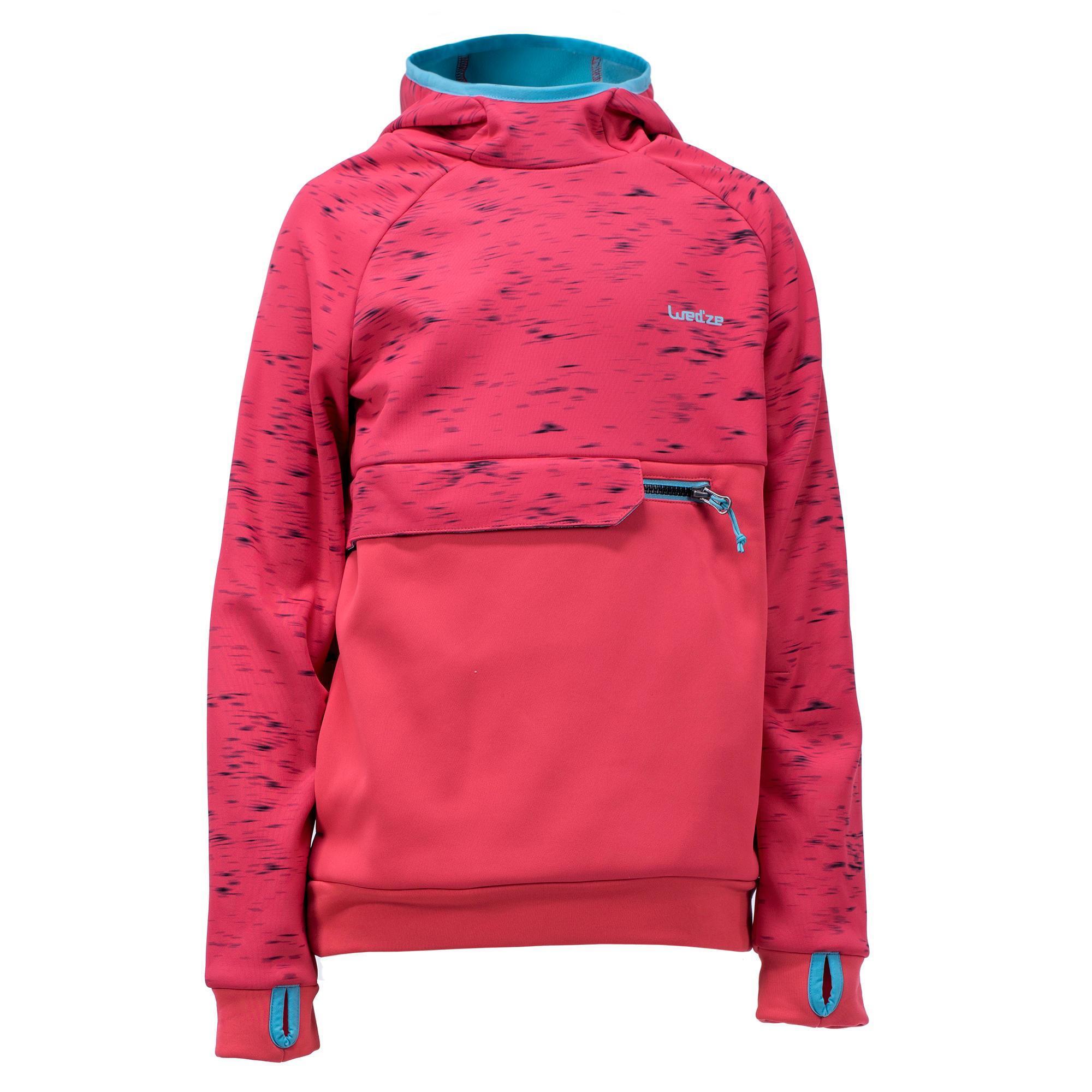 Jungen,Kinder,Mädchen,Kinder Sweatshirt Snowboard Ski SNB HDY Mädchen erdbeerrot | 03608449860307