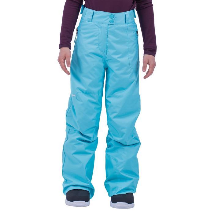 Snowboardhose Skihose SNB 500 Kinder Mädchen türkis