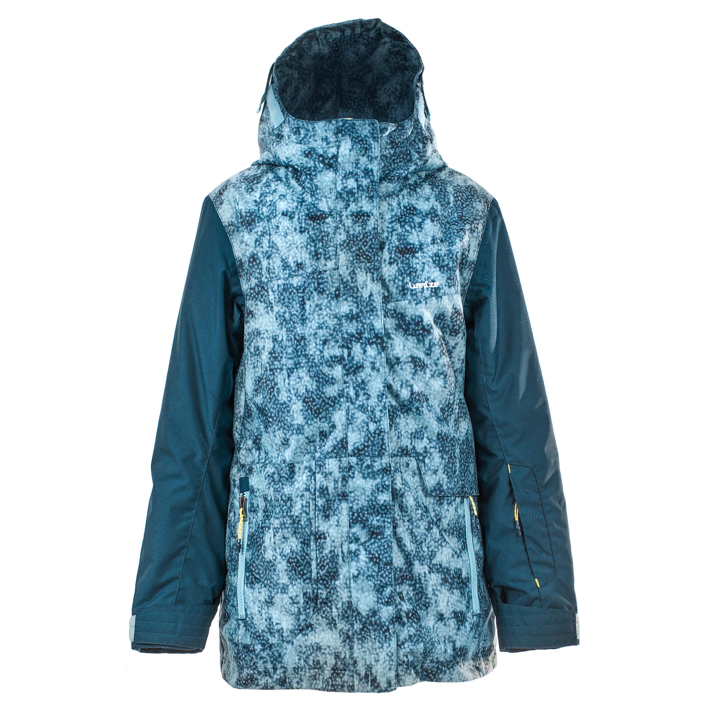Wed'ze Ski- en snowboardjas SNB JKT 500 meisjes blauw thumbnail