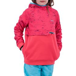 Sudadera de Snowboard y Esquí, Wed'ze SNB HDY, Niña, Rosa