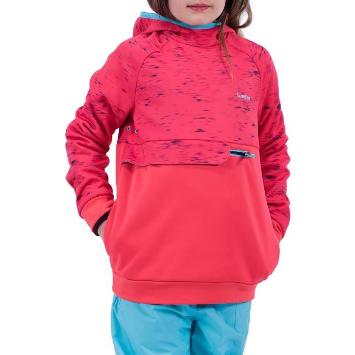 Sweatshirt Snowboard/Ski SNB HDY Mädchen erdbeerrot