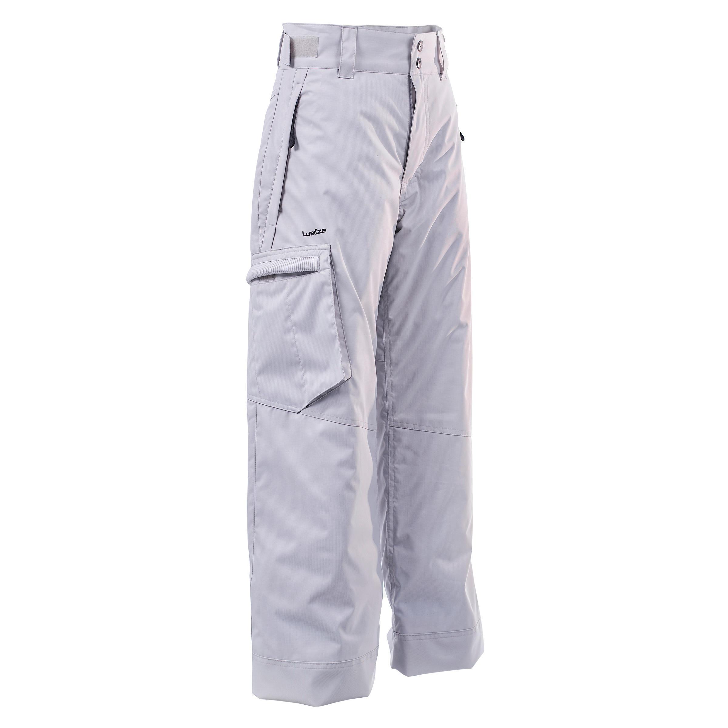 Pantalon de planche à neige et ski SNB PA 500 garçon gris