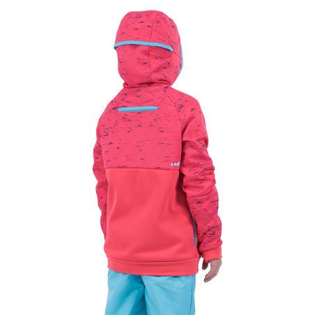 Sweatshirt deplanche à neige et de ski SNB HDY fille rose fraise