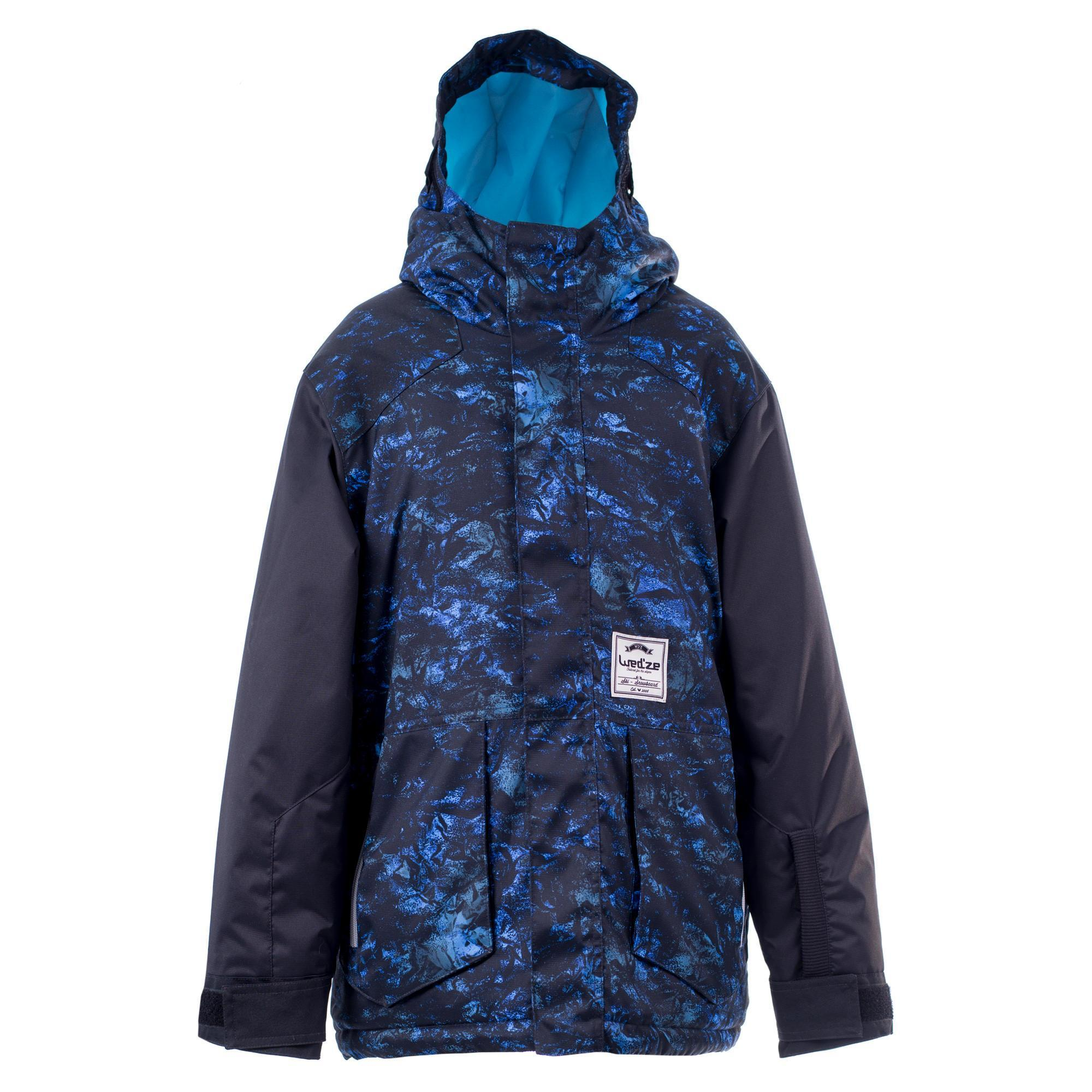 Wed'ze Ski- en snowboardjas SNB JKT 500 jongens donkerblauw