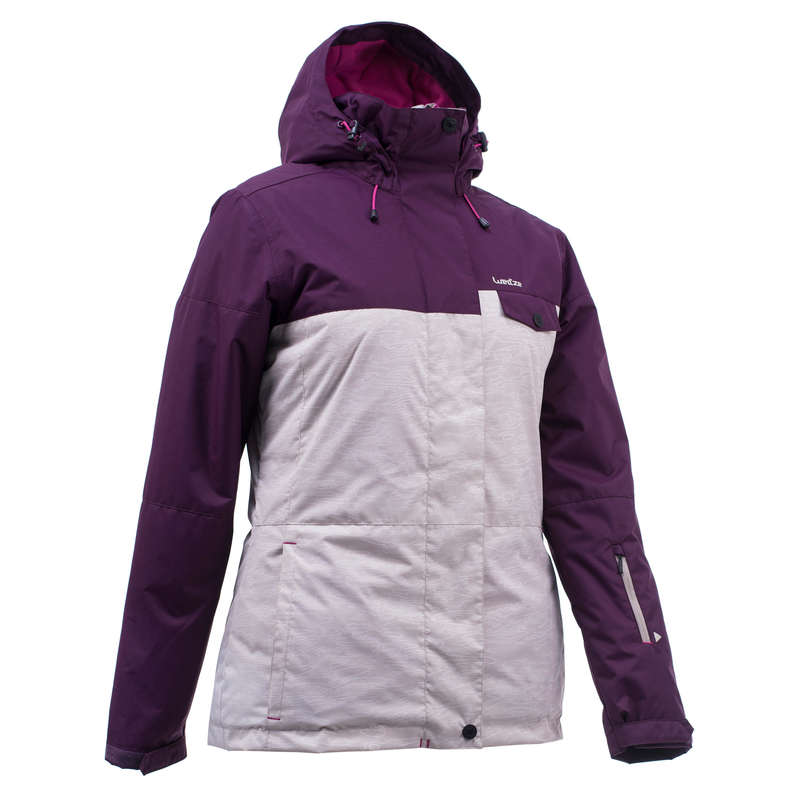 WOMEN BEGINNER SNOWBOARD EQUIPMENT - SNB JKT 100 Women - Beige Plum WED'ZE