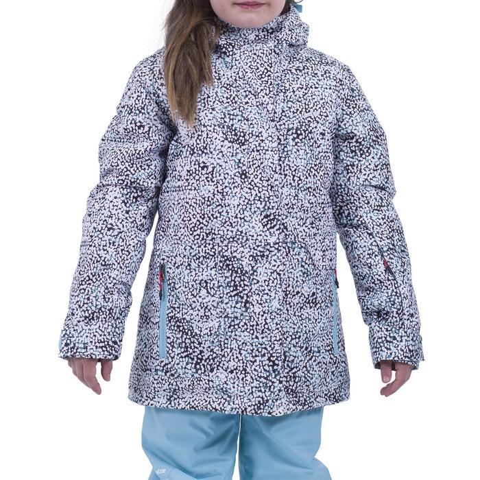 Snowboardjacke 500 Kinder türkis/rosa