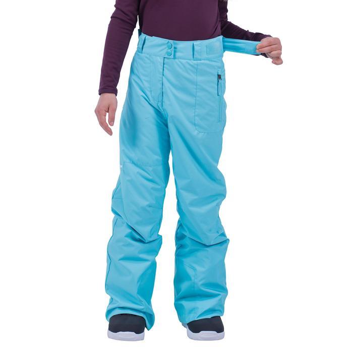 Pantalon de snowboard et ski SNB PA 500 fille turquoise