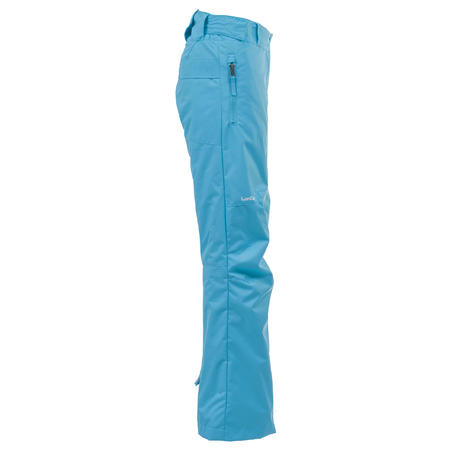 Girl's Snowboard and Ski Pants SNB PA 500 - Turquoise