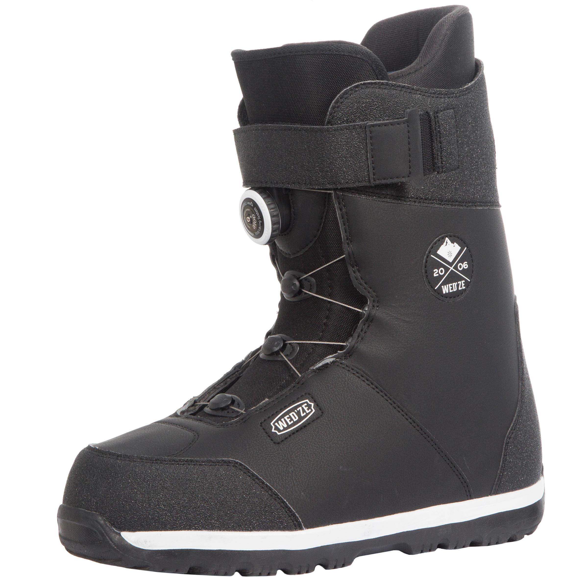 Chaussures de snowboard homme piste hors piste foraker 500 noires wedze