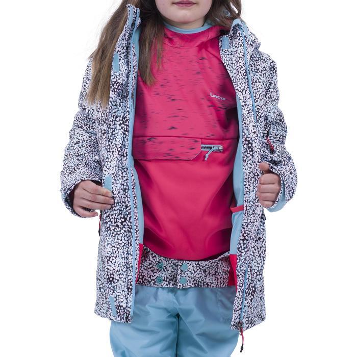 Ski- en snowboardjas SNB JKT 500 voor meisjes turkoois/roze