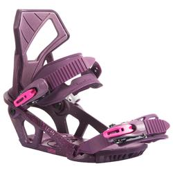 Women's On/off-piste Snowboard Bindings, Serenity 100 - purple