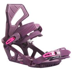 Women's Serenity 100 purple snowboard bindings