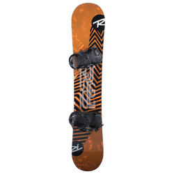 Pack snowboard freestyle homme, district noir et orange
