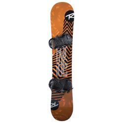 Snowboard-Set Freestyle District Herren schwarz/orange