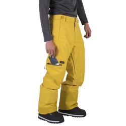 Pantalon de snowboard et de ski homme SNB PA 500 miel