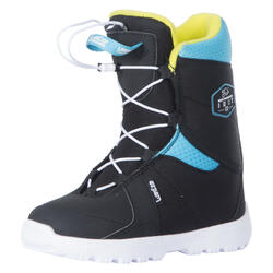 Snowboard Boots All Mountain/Freestyle Indy 100 Fast Lock Kinder schwarz/blau